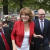 """""""Joan's Day"""": After months of doom and gloom Labour had something to smile about yesterday"""