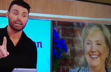 Former X Factor star Rylan calls Hillary Clinton 'babe' on live telly