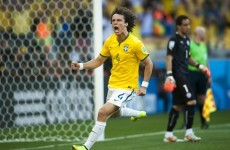 FIFA boffins are now saying David Luiz is the World Cup's best player