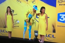 This Vine of a Tour de France rider being denied a kiss is just too awkward