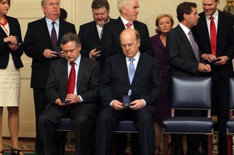 Brendan Howlin and Michael Noonan are sitting comfortably, but what about those behind them?