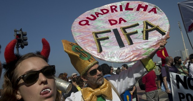 'F**k FIFA' - Brazilians protest at World Cup costs as Silva awaits redemption