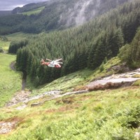 Belgian man rescued after falling on steep ground at waterfall