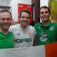 Kerrymen at the Copacabana -- Ireland are surely the best-supported nation not at this World Cup