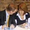 Just the two of us: Enda Kenny and Joan Burton are back in talks tonight... alone