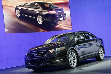 File photo of the 2013 Ford Taurus on show.
