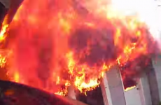 VIDEO: A firefighter's view as he tackles a terrifying house blaze
