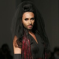Conchita Wurst modelled for Jean-Paul Gaultier, and she looked amazing