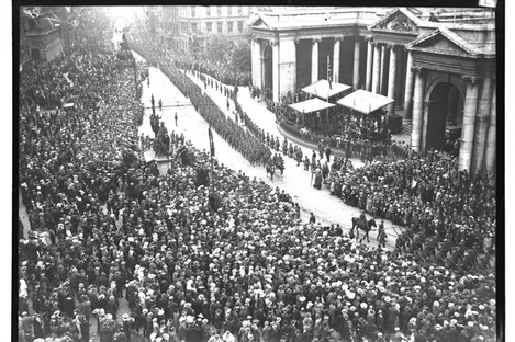 A victory parade in 1919