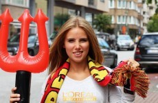 Belgian football fan lands modelling gig after being spotted cheering at World Cup