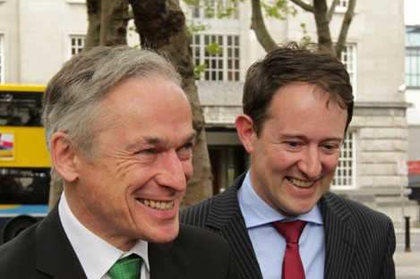 Richard Bruton and Seán Sherlock (File photo)