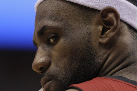 LeBron James: hate figure for fans in America.