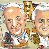 No holy war as Pope Francis and Benedict XVI will not watch World Cup final together