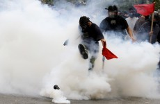 Tear gas fired at protesters in Greece as thousands march against austerity measures