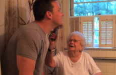 Guy shaves off beard for Granny's 100th birthday
