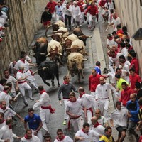 Three injured - one with suspected leg fracture - during Pamplona bull run