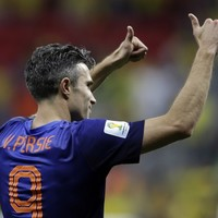 Robin van Persie gave his World Cup medal away to a Dutch fan last night