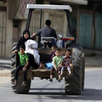 Thousands of families flee Gaza with nothing in fear of their lives