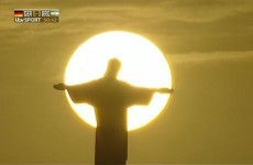 Snapshot: Christ the Redeemer holds the sun in his arms