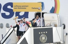 Jubilant crowds welcome home German World Cup heroes