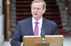 Read: Taoiseach Enda Kenny's 100 days speech