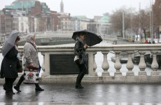In today's typical Irish weather : Rain, hail, lightning, thunder, frogs, locusts*
