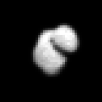 Comet-chasing probe sends back pics of 'strange-looking potato' formation
