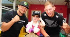 Snapshot: UFC stars pay a surprise visit to National Children's Hospital, Tallaght