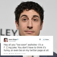 Jason Biggs forced to apologise for 'joke' tweets about Malaysia Airlines