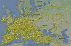 This dramatic radar image shows airlines reacting to the crash of MH17