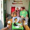 Some men in Limerick turned this old trailer into a perfect mobile pub