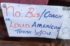 Sign in Co Kerry café forbids 'loud Americans' on the premises