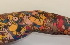 This guy has 41 tattoos of Homer Simpson on his body
