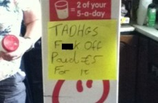 Don't touch Tadhg's €5 smoothie, OKAY?