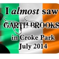 'I almost saw Garth Brooks' bumper stickers doing a roaring trade