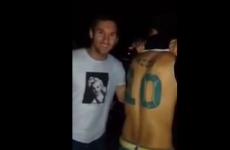 Fan with 'Messi 10' tattoo on his back meets the man himself