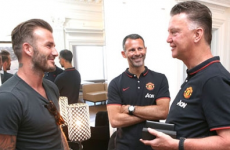 Van Gaal happy with preparations as Beckham drops by for an LA visit
