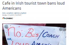 'No loud Americans' sign in Kerry picked up by US media
