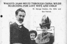 This Wexford man walked 10,000 miles through China in 1914 to find his family
