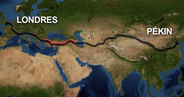 You can now get an underwater train from Europe to Asia