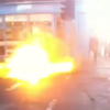 Watch: Manhole cover explodes on busy Dublin street close to Leinster House