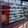 New York bar causes uproar with 'no Irish drunks' sign