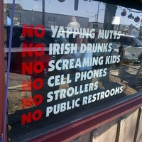 New York bar causes uproar with 'no Irish drunks' sign