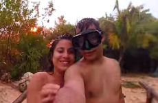 Couple almost struck by lightning as they take a selfie