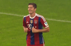 Robert Lewandowski scores a sublime chip for Bayern Munich