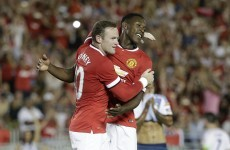 Wayne Rooney and Juan Mata are toying with Roma this evening