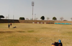 South African U19 player fires over incredible 80-metre penalty