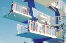 How not to jump off a high diving board