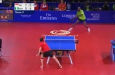 Watch an outrageous 41-shot table tennis rally from the Commonwealth Games