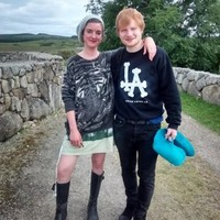 Ed Sheeran popped over to his Irish cousin's wedding in Spiddal